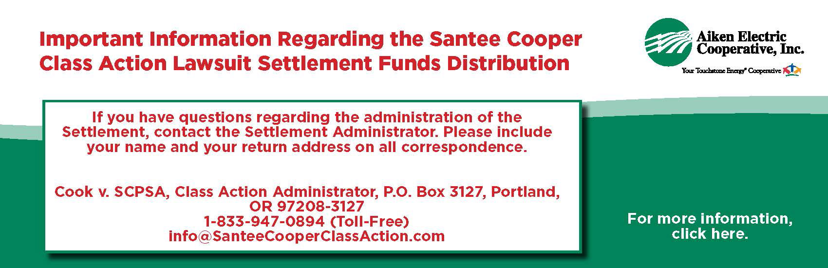 Santee Cooper Class Action Lawsuit information